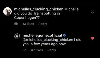 Screenshot from Michelle Gomez Instagram