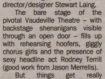 Review of The Pleasure Man from The Stage, 24 Feb 2000 (1 of 2)